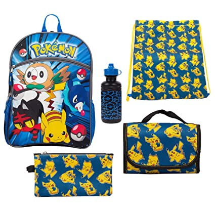 56ee2c9f8654 Image Unavailable. Image not available for. Color  Pokemon 5-pc School  Backpack
