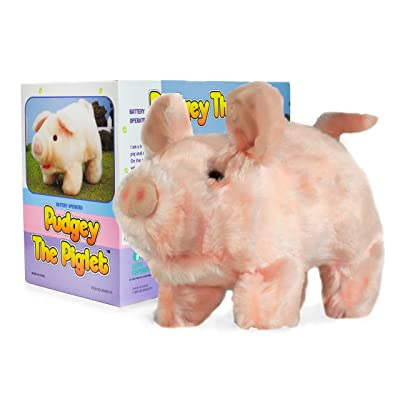 Moving Animal Joy Pudgey Piglet The Walking, Oinking, Baby Pig: Toys & Games