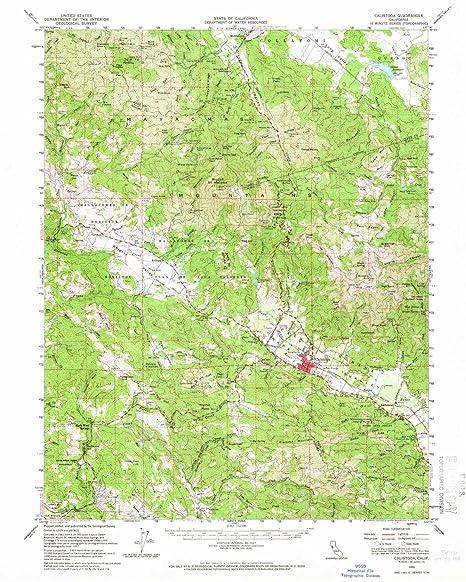 Amazon.com: YellowMaps Calistoga CA topo map, 1:62500 Scale, 15 X 15 on