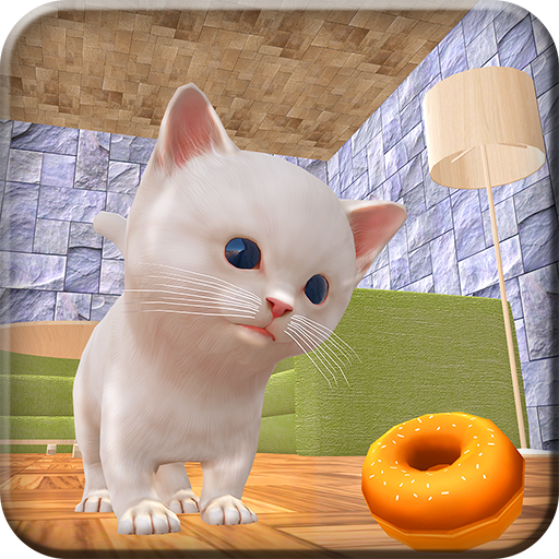 (Kitten Home Adventure Craft Simulator 3D: Crazy Kitty Cat Evolution Games Free For Kids 2018)