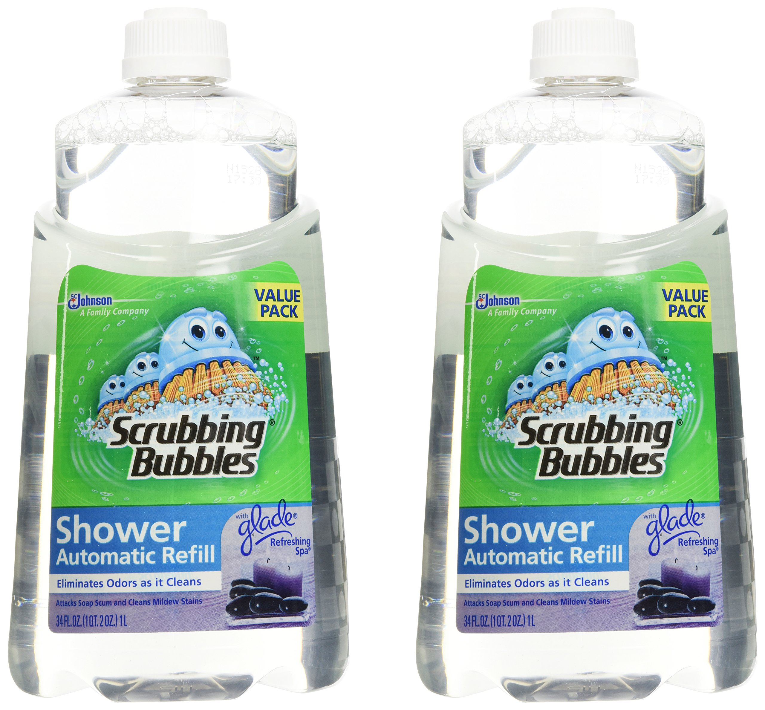 Scrubbing Bubbles Automatic Shower Cleaner Refill - Refreshing Spa - 34 oz - 2 pk by Scrubbing Bubbles