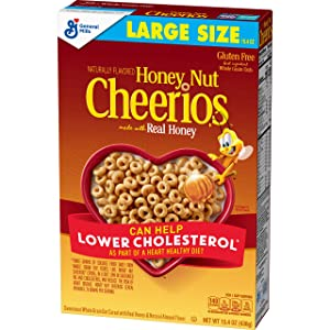 Honey Nut Cheerios, Gluten Free Cereal With Oats, 15.4 Oz