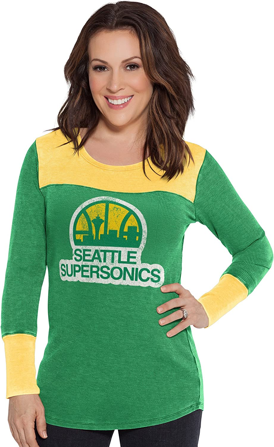 Touch by Alyssa Milano NBA Seattle Supersonics Blindside Thermal X-Large Green