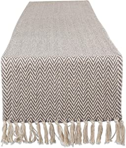DII Braided Farmhouse Table Runner, 15 x 72 inches, Gray