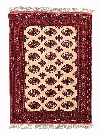 Pakistan Buchara Teppich 123x165 Orientalischer Teppich Amazon De