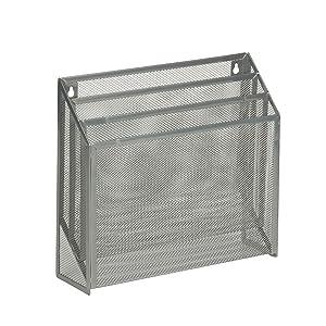 Honey-Can-Do OFC-03305 Vertical File Sorter Bin, 3.5 x 12.5 x 11.5, Silver