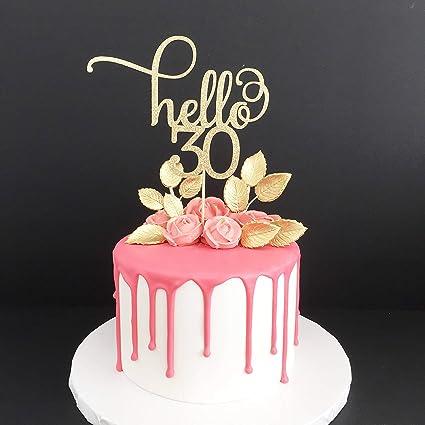 Personnalisé Anniversaire Paillettes Cake Topper Avec N/'importe Quel Nombre