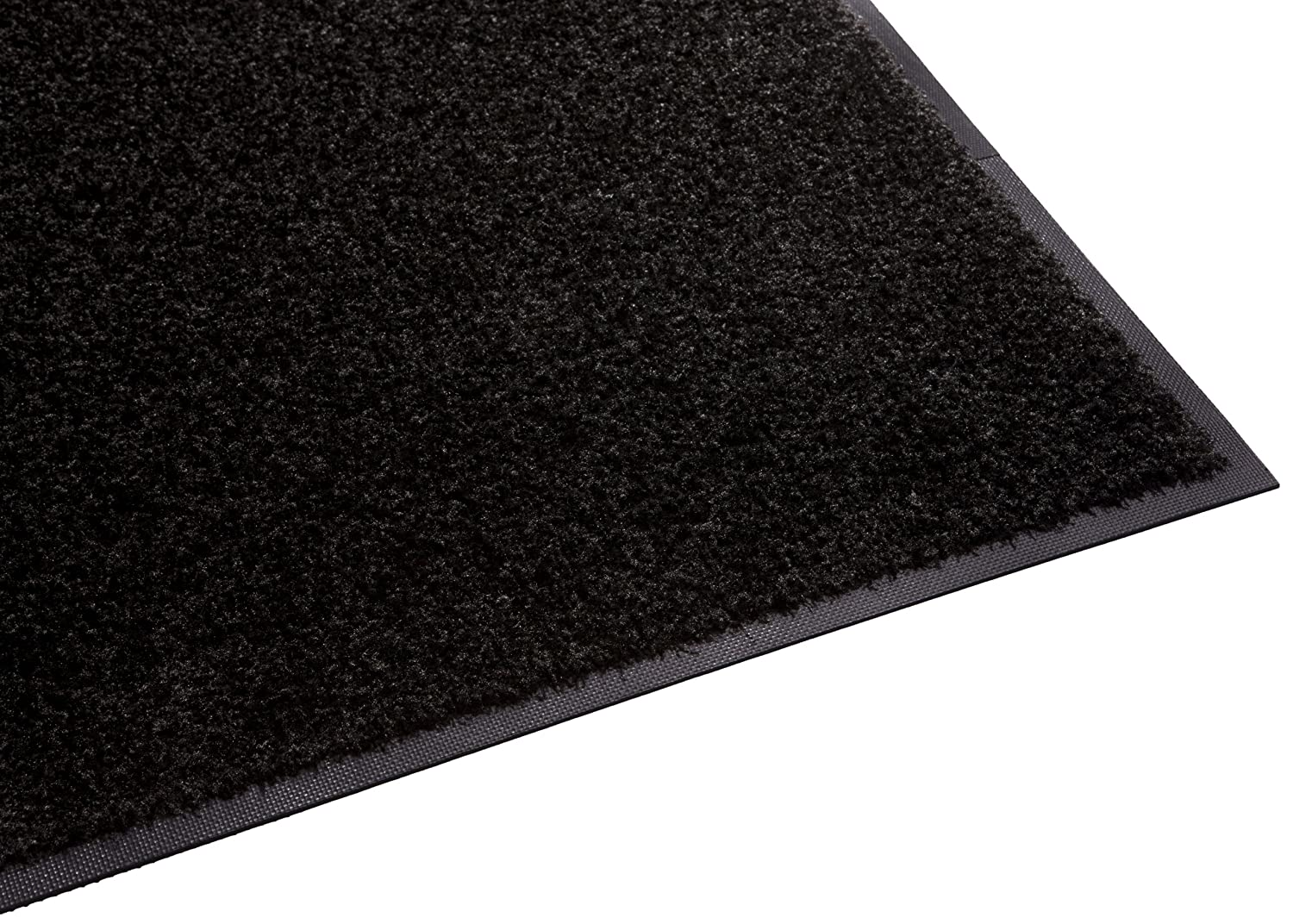 Guardian Platinum Series Indoor Wiper Floor Mat, Rubber with Nylon Carpet, 3'x20', Black