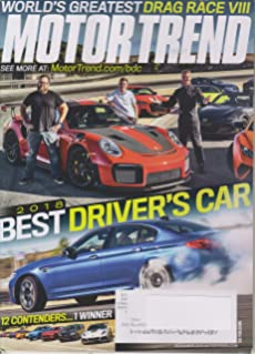 motor trend 2019 best driver\'s car Motor Trend February 2019: Wall Periodicals Online: Amazon.com: Books