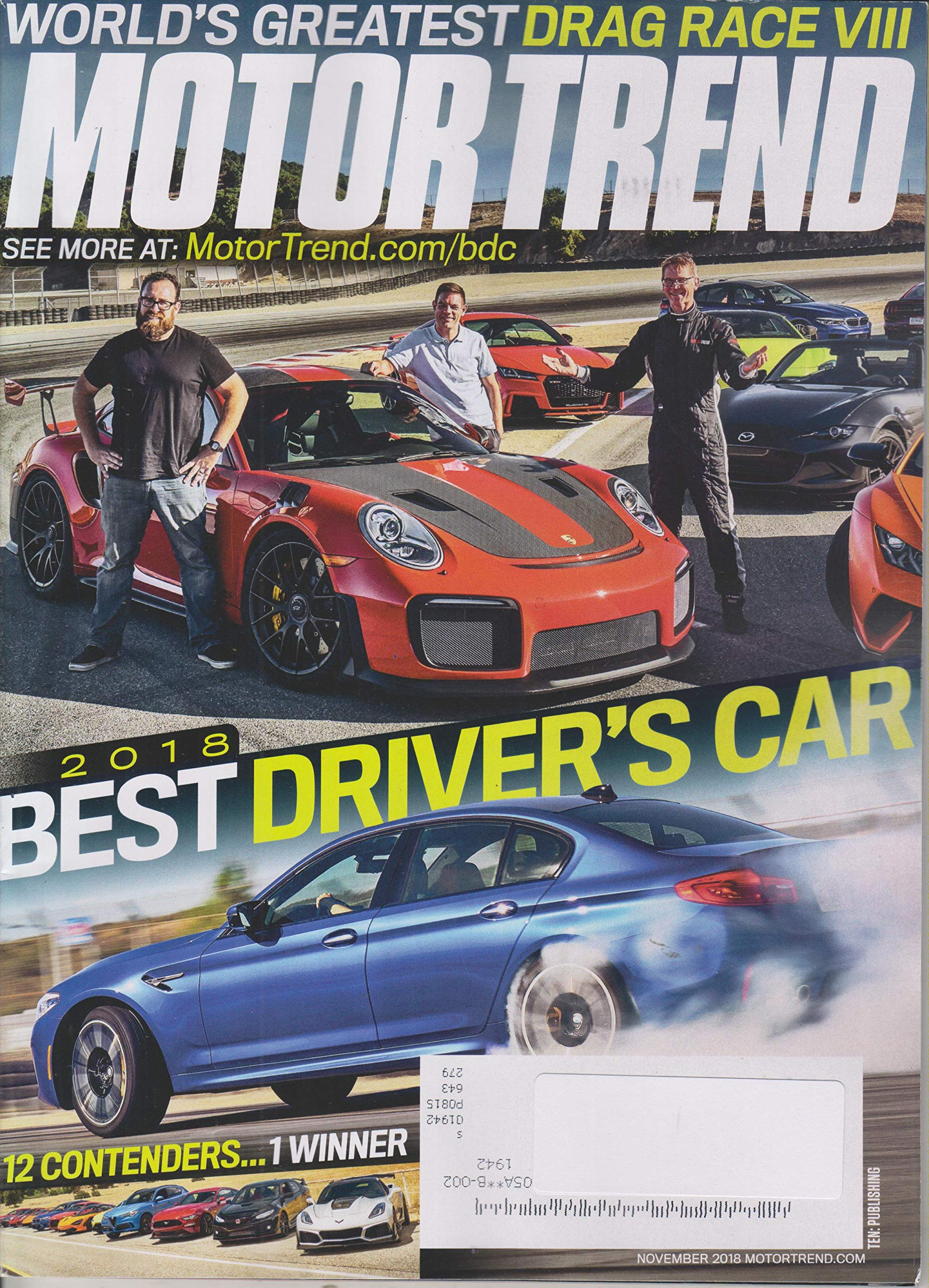 motor trend 2019 best driver\'s car Motor Trend November 2018 2018 Best Driver's Car 12 Contenders