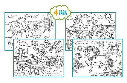 Amazon.com: Kute Kids Childrens Reusable Activity Coloring Placemats ...