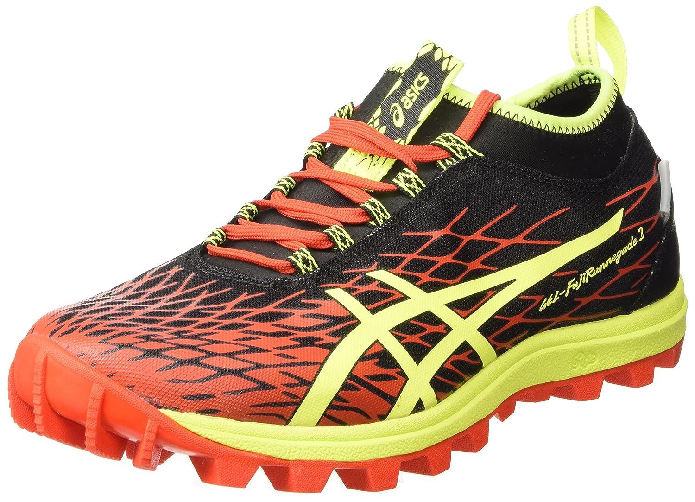 Asics Gel-fujirunnegade 2 Plasmaguard, Chaussures de Running Compétition Homme - Rouge (Orange/Flash Yellow/Black 0907), 48 EU