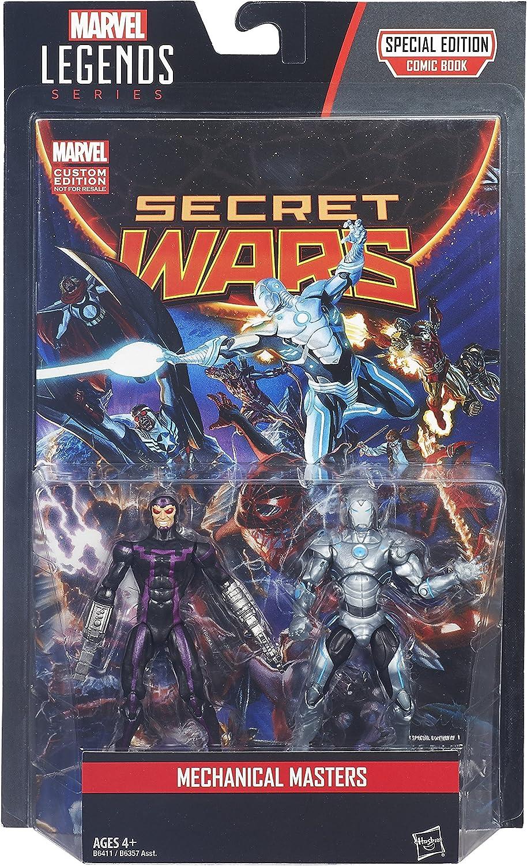 "MARVEL LEGENDS SECRET WARS 2 PACK 3.75/"" MECHANICAL MASTERS WITH COMIC BOOK"