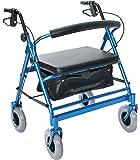 Essential Medical Supply Endurance HD Heavy Duty Walker, Blue, 36 Pound