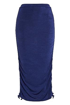next Mujer Falda Ceñida Metalizada - Tall Azul Marino EU 36 Tall ...