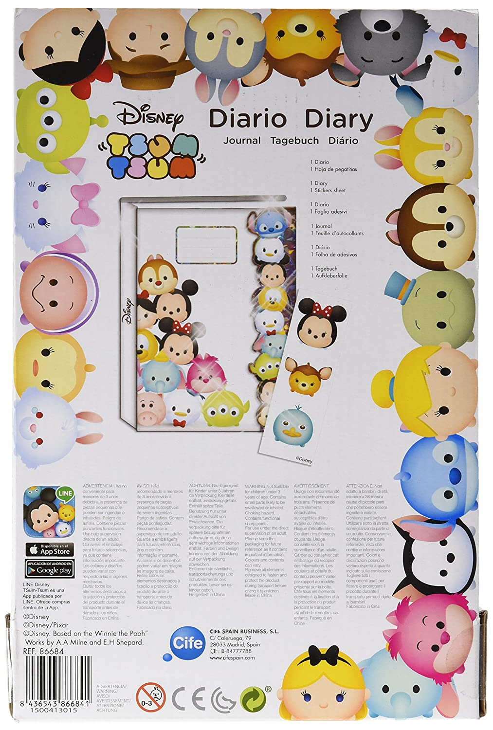 Amazon.com: Tsum Tsum – Agenda Single Holographic (Cife ...