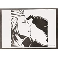 Poster Axel Kingdom Hearts Affiche Handmade Graffiti Sreet Art - Artwork