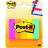 Post-it 6705AN Page Flag Markers, Assorted Brights, 100 Strips per Pad (Pack of 5 Pads)
