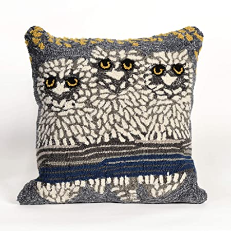 Liora Manne Whimsy Birds Indoor Outdoor Pillow, Light
