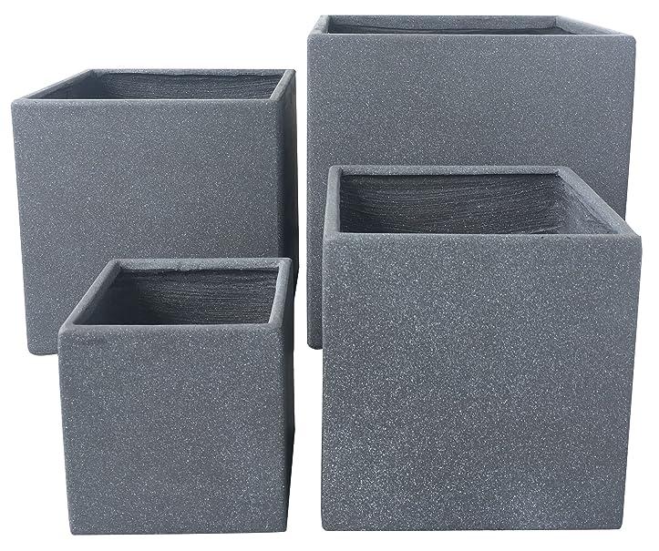Premium Pflanzkübel Set - Lounge Cube von 7EVEN   Blumentopf eckig ...