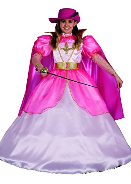 FIORI PAOLO 23013 - Lady Mosquetero Disfraz Niña, 4 - 5 años, rosa ...
