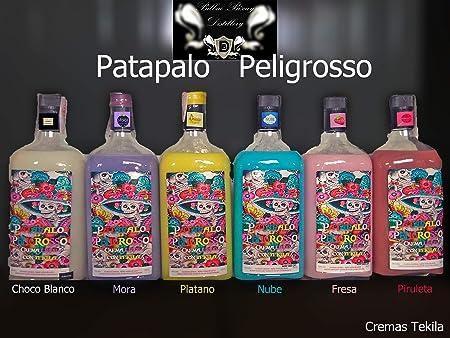 Patapalo Peligrosso Cremas con Tequila- Fresa- Botella 1L SIN LACTOSA