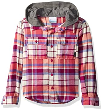 0bdd518c466 Columbia Boys' Little Boulder Ridge Flannel Hoodie, Deep Blush Multi Plaid,  XX-