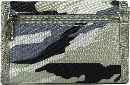 Boys Camoflage WALLET 13cm x 9cm closed  NEW canvas khaki beige brown style 2