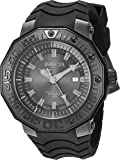 Invicta Men's 'Reserve' Automatic Stainless Steel and Silicone Casual Watch, Color:Black (Model: 23032)