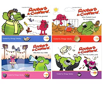 Roobarb And Custard 4 X Emergent Readers Books Set