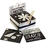 Scratch Art Kit – Magic Scratch Off Notes & [2] Stylus Tools for Kids & Adults – 100 Black Paper Sheets – Create Colorful Holographic Cards, Bookmarks, Notes, Pictures & Other Art Without Ink