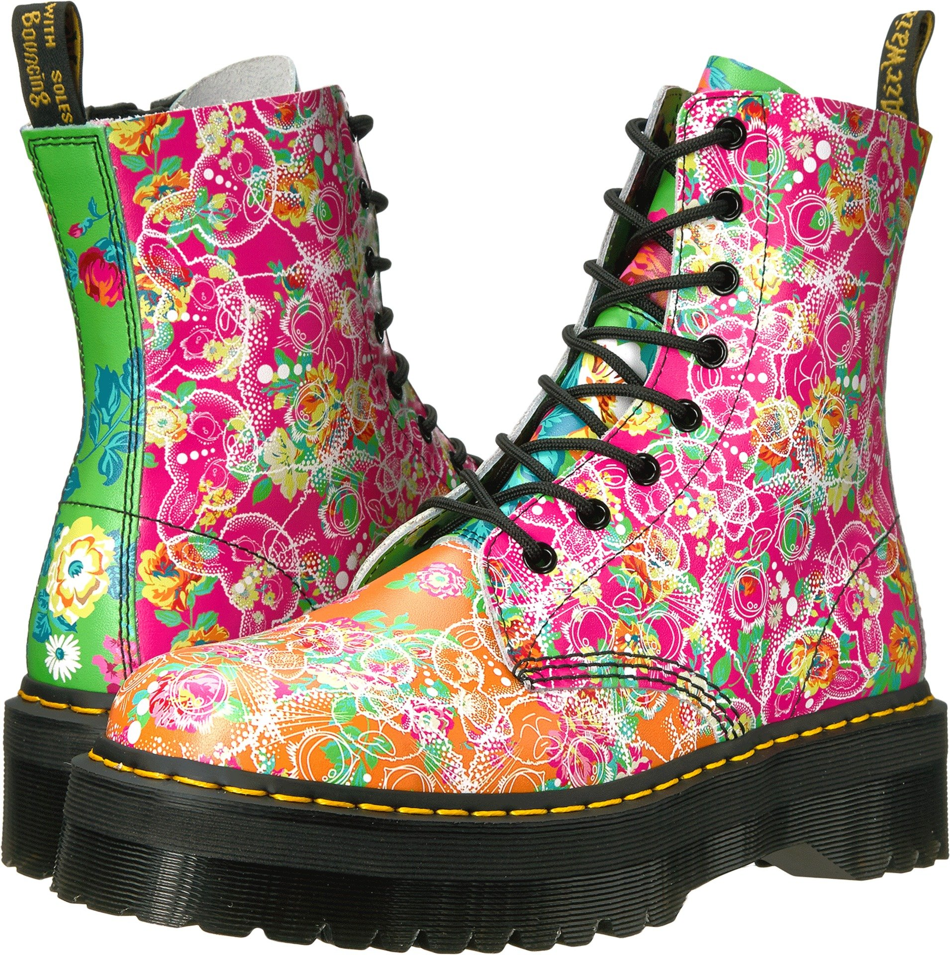 Dr. Martens Women's Jadon Daze Fashion Boot, Multi Daze, 4 Medium UK (6 US) by Dr. Martens