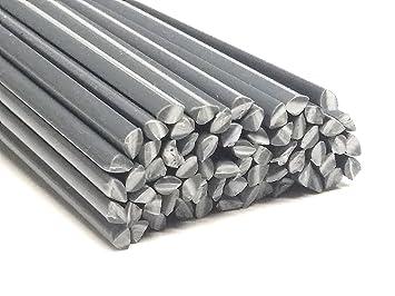 Plástico alambre de soldadura de PVC U rígida 4 mm triangular gris ...