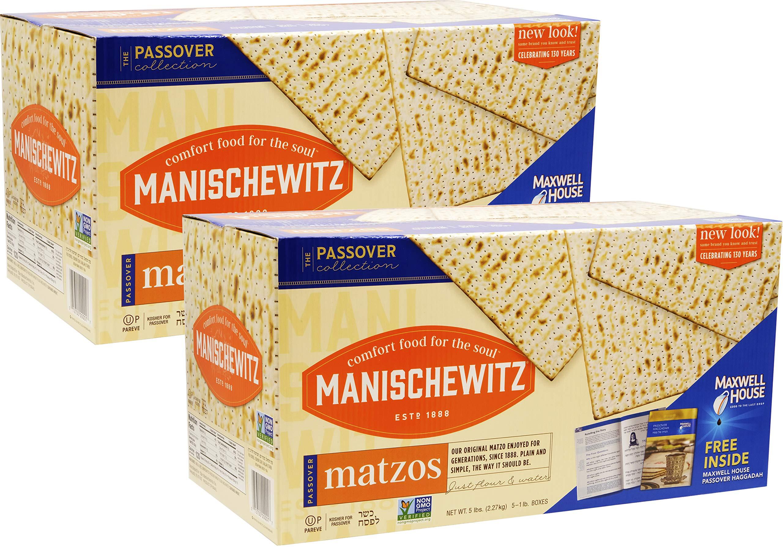 Manischewitz Matzo Kosher For Passover Matzah 10 LBS (10 Boxes)