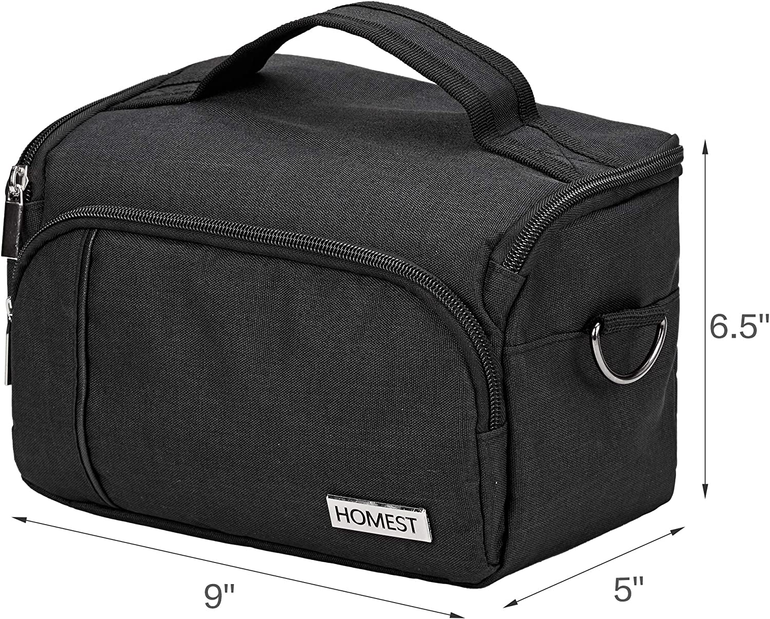 HOMEST Carrying Case Compatible with Circut Easy Press Mini Black Tote Bag for Cricut Heat Press Machine Bag Only Enough Capacity for Mats Pens and Tools