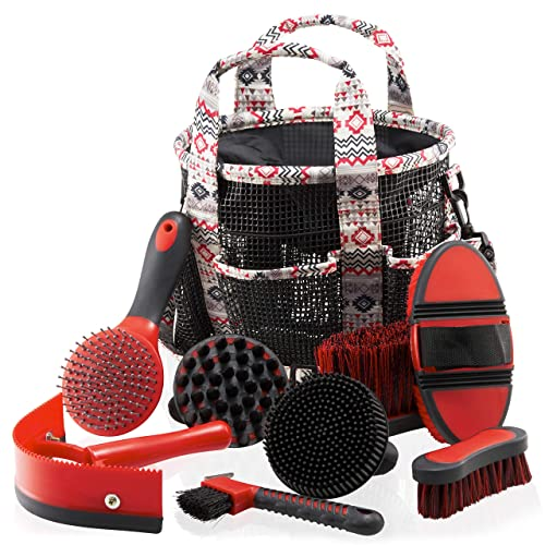 Best Horse Grooming Tools Set with Bag&Brushes [Equeenex] Picture