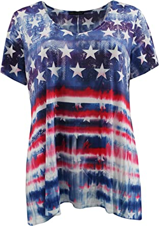 T-Shirt Long Sleeve Tie-Dye Blouse Round Neck Tee Simply Elegant Clothing Womens Plus Size