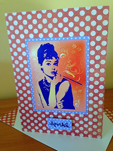 Audrey Hepburn Handmade Birthday Card Famous British Actress And