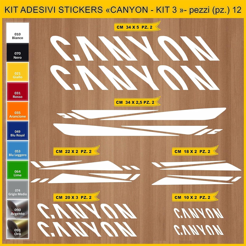 Kit Pegatinas Stickers Bicicleta Canyon - Kit 3-12 Piezas- Bike ...