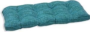 Pillow Perfect Outdoor/Indoor Remi Lagoon Wicker Loveseat Cushion