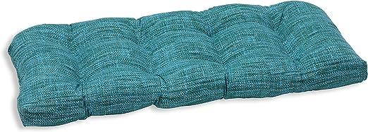 Pillow Perfect Outdoor//Indoor Remi Lagoon Wicker Loveseat Cushion