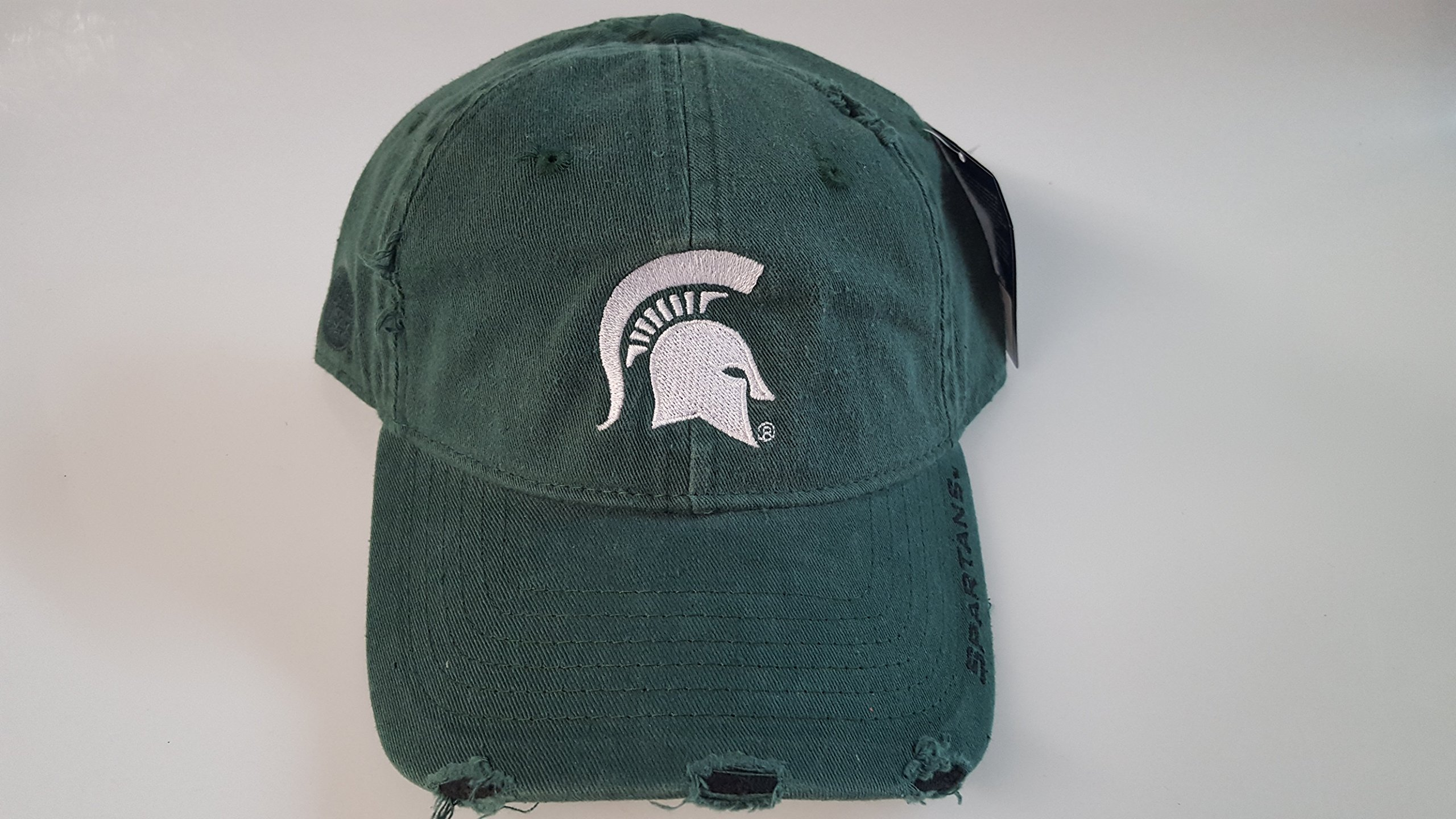 NCAA New Michigan State Spartans Embroidered Adjustable Pre-Distressed Cap