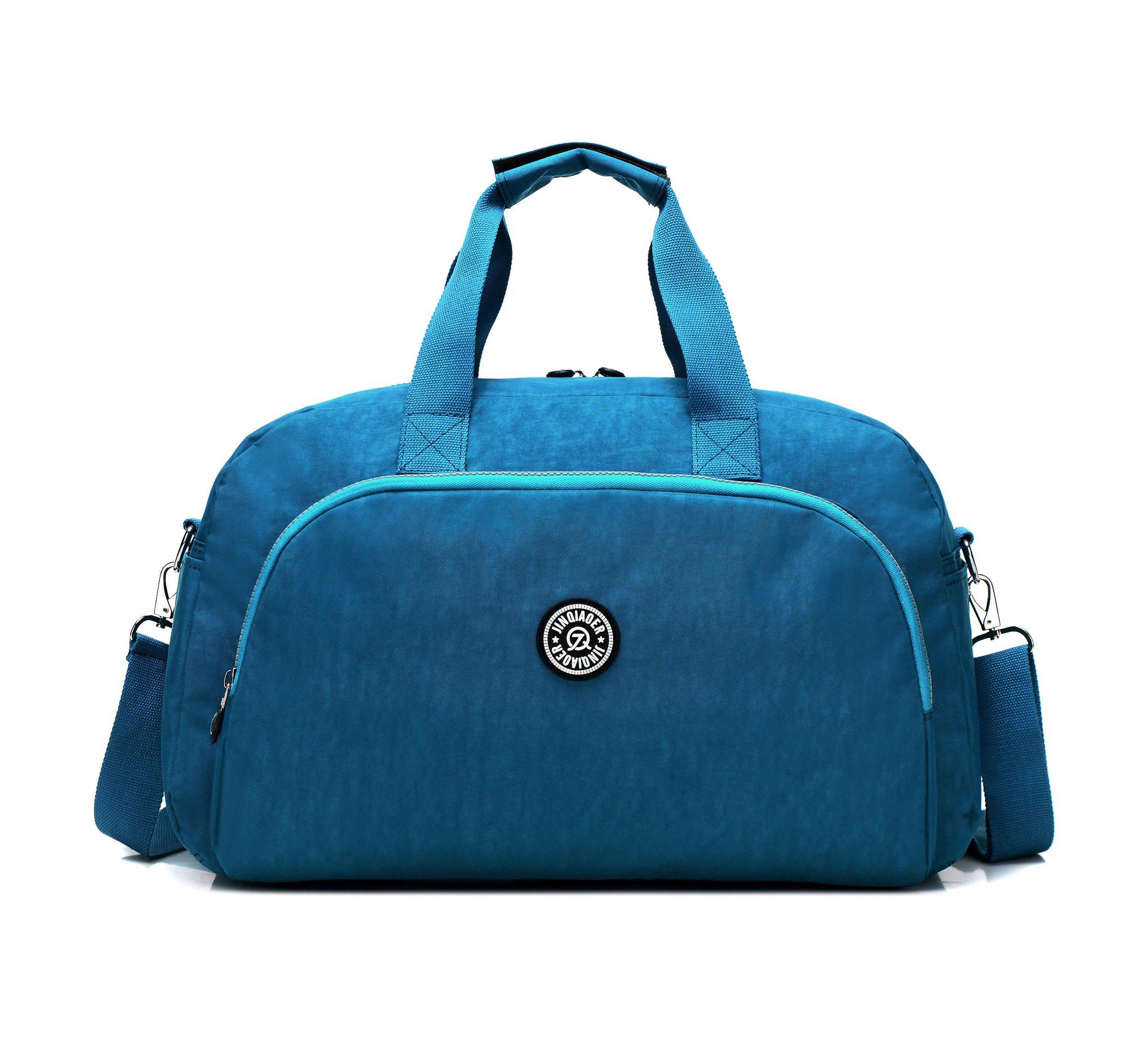 GuiShi(TM) Waterproof Travel Weekender Shoulder Bag Lightweight Gym Tote Organiser Weekender Bag (Sky Blue)