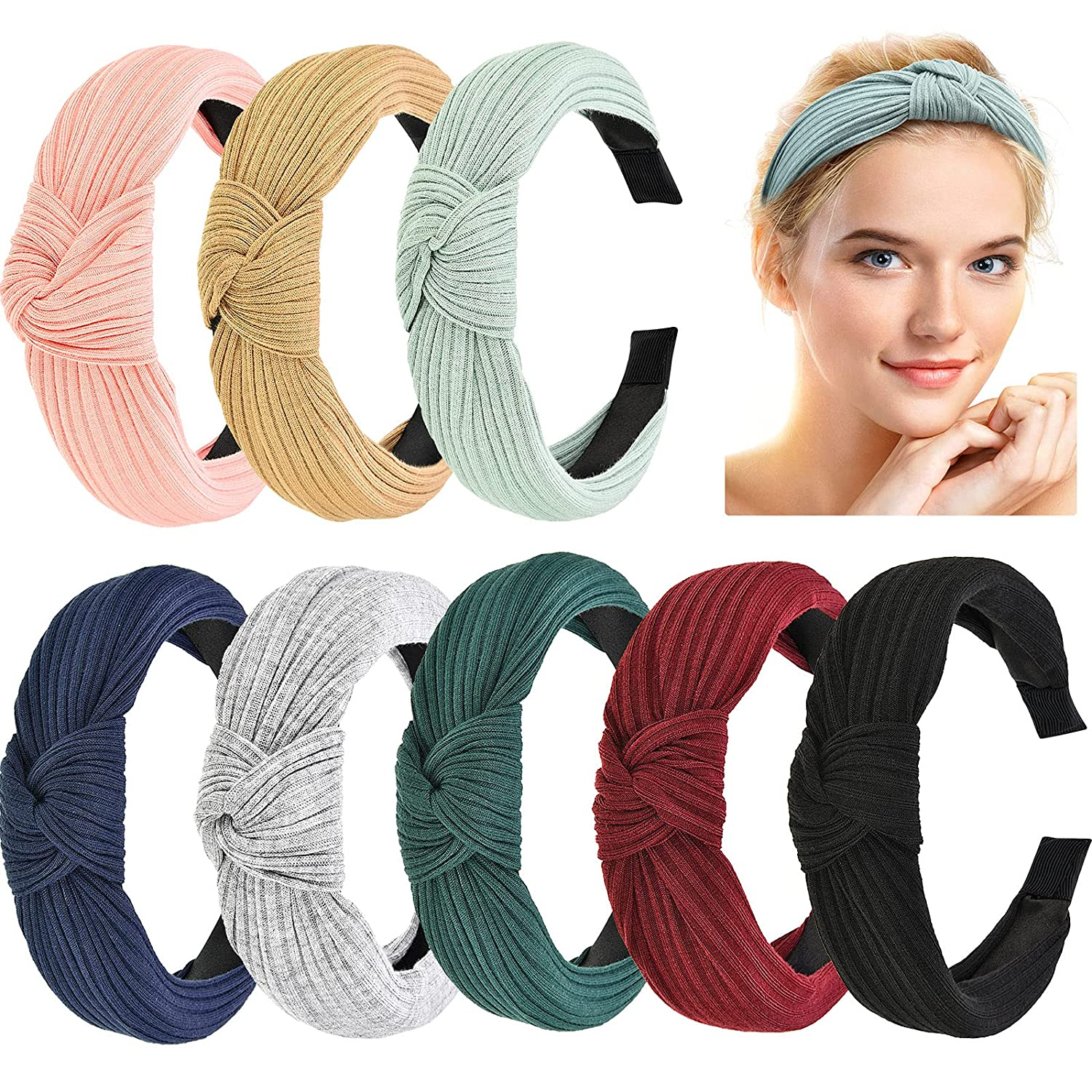 Details about  /Womens Headband Hairband Bow Knot Cross Tie Velvet Headwrap Hair Band Hoop