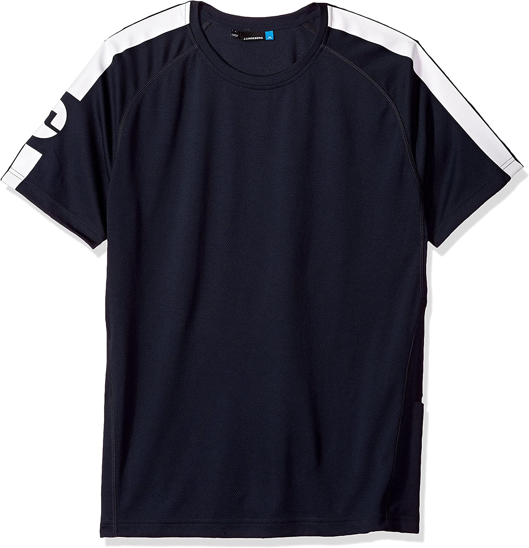 J.Lindeberg Mens Double Mesh Logo Long Sleeve Shirt