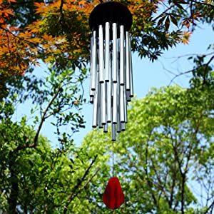 RENOOK Memorial Wind Chimes for Outside - 27 Tubes Handmade Wind Chimes, Indoor Outdoor Soothing Melodic Tones, Amazing Windows Yard Decor, Mom's Best Gifts, Patio Porch Garden Backyard
