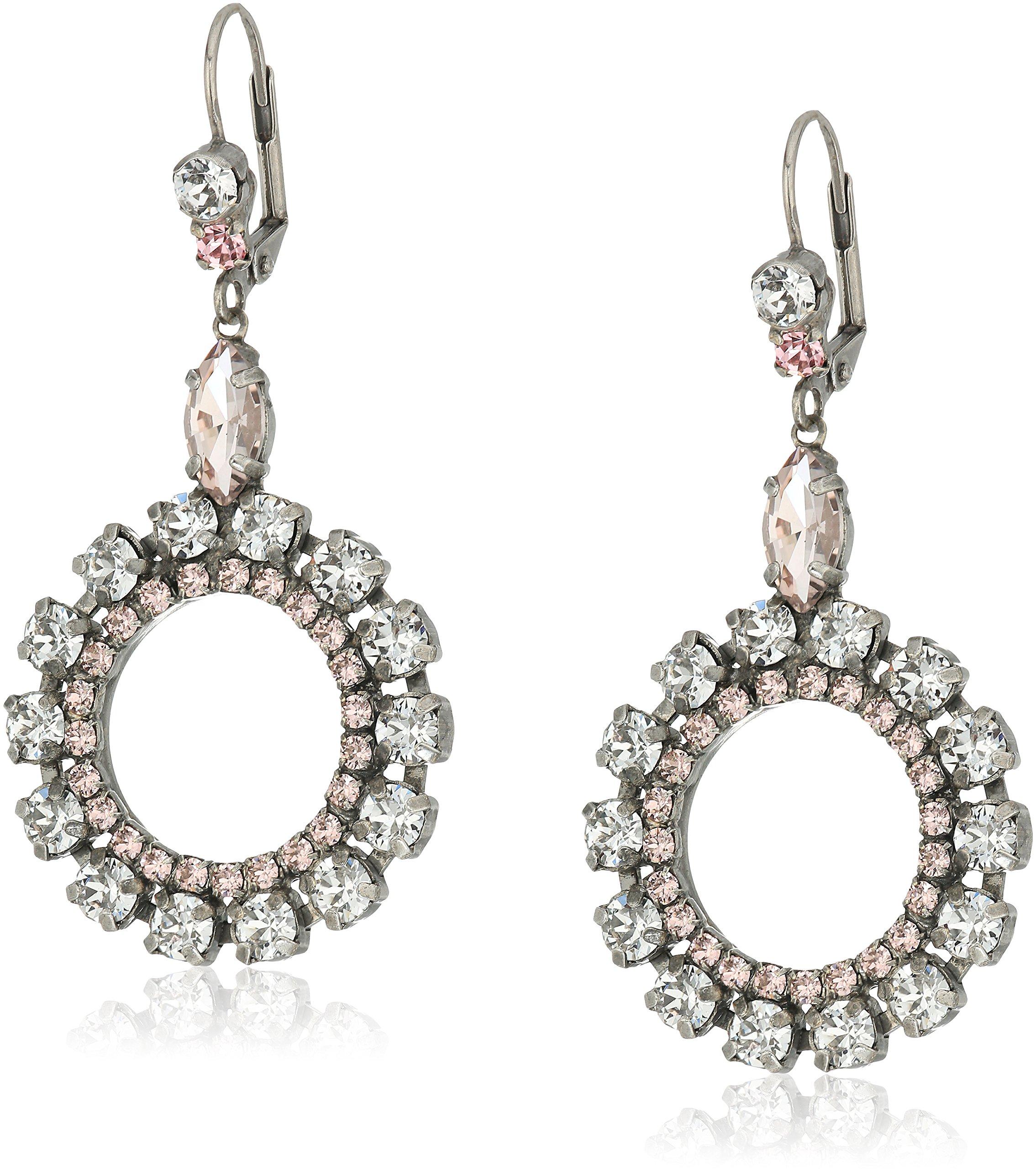 Sorrelli Crystal Rose Luxe Loops Drop Earrings
