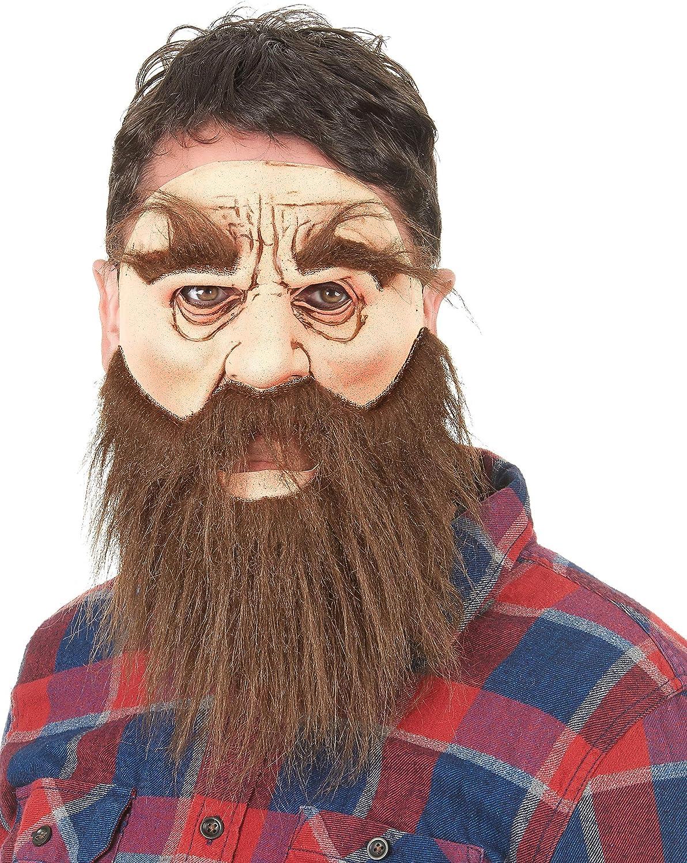 Generique - Máscara látex Hombre Barbudo Adulto: Amazon.es ...