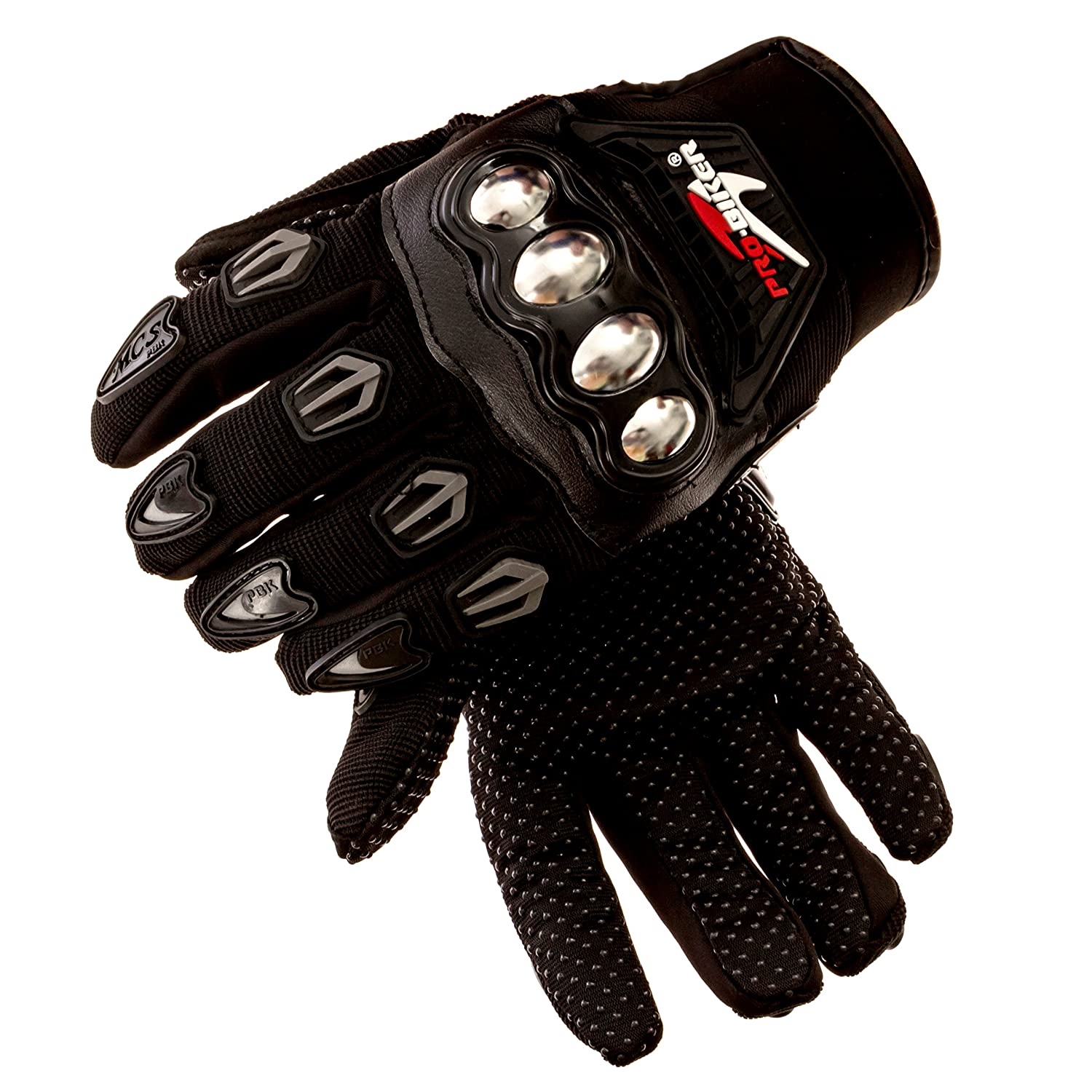 Motorcycle gloves hard knuckles - Amazon Com Steel Knuckle Motorcycle Gloves Pair Motorbike Protective Riding Accessories Tactical Racing Gear Automotive