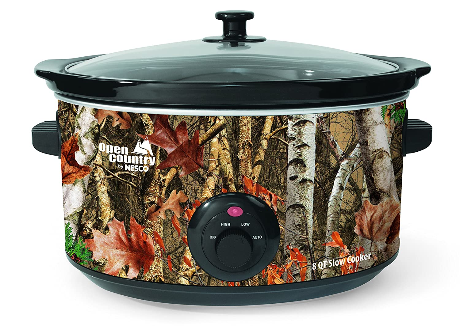 Open Country SC-8017 Slow Cooker, 8 quart, Woodland Birch Camo